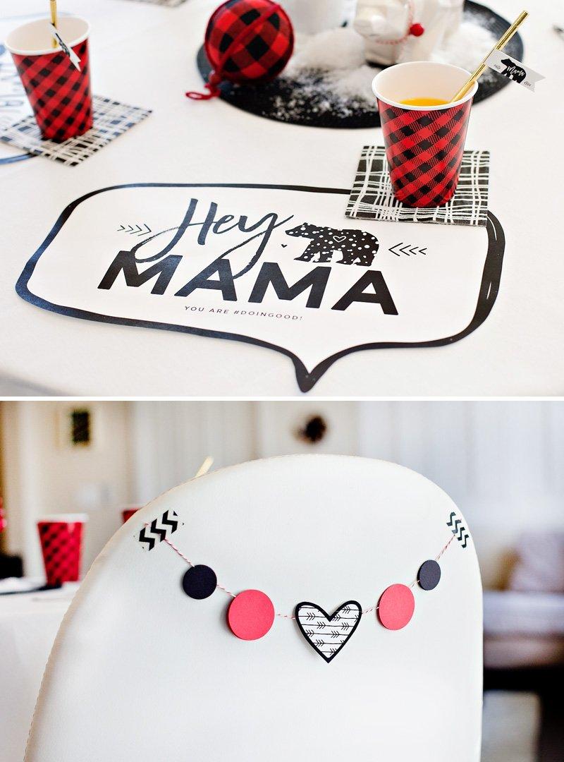 free printable Mama Bear placemats