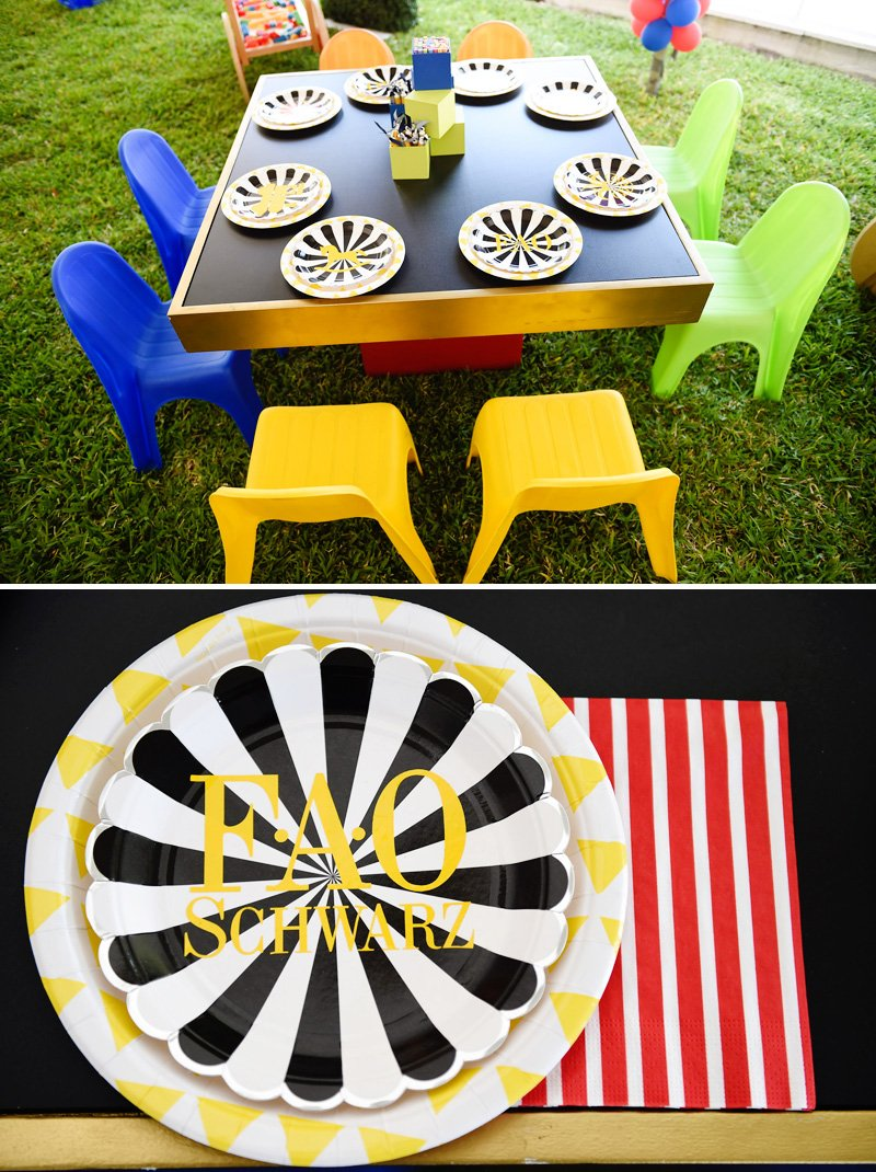 Kids Toy Party Activity Table