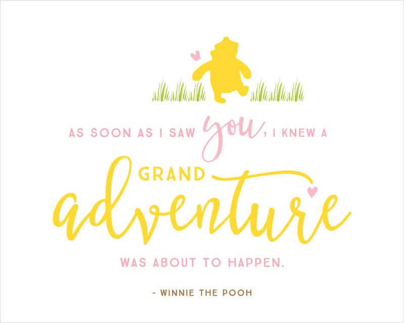 Winnie the Pooh Printable Quote - Grand Adventure