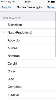 WhatsApp, interfaccia iOS 7