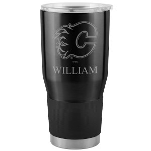 Calgary Flames Black Personalized 30oz. Ultra Tumbler