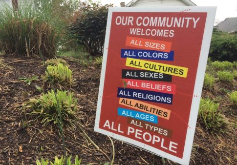Hyattsville lawn signs Black Lives Matter Welcome Your Neighbors