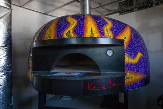 Pizzeria Paradiso Hyattsville Art Works Now pizza oven art Valerie Theberge
