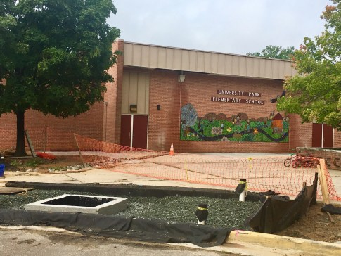 University Park Elementary stormwater runoff Anacostia watershed