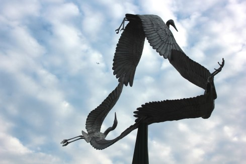 Riverdale Park Great Blue Herons sculpture Joanna Campbell Blake