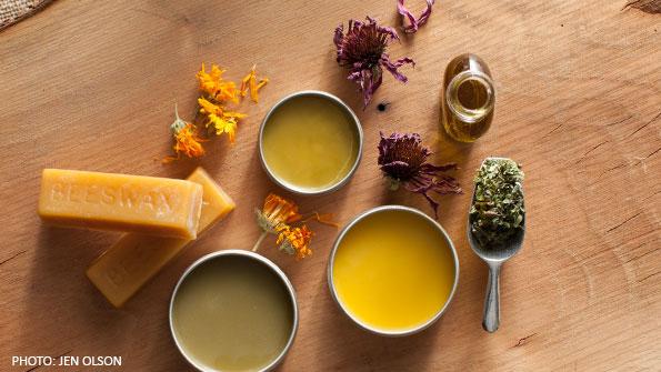 Making Herbal-Infused Oils & Salves -