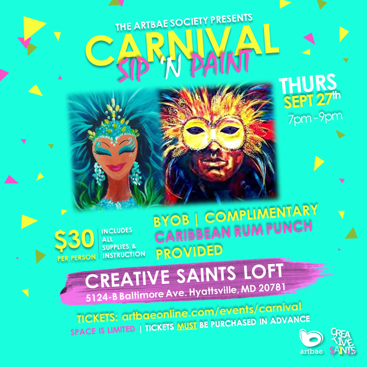 Carnival Themed Sip N Paint Event