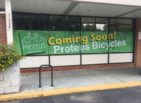Proteus Bicycles College Park new location Hollywood Maryland