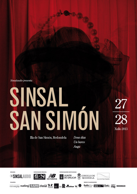 Cartel fallido del Festival SinSal San Simón.