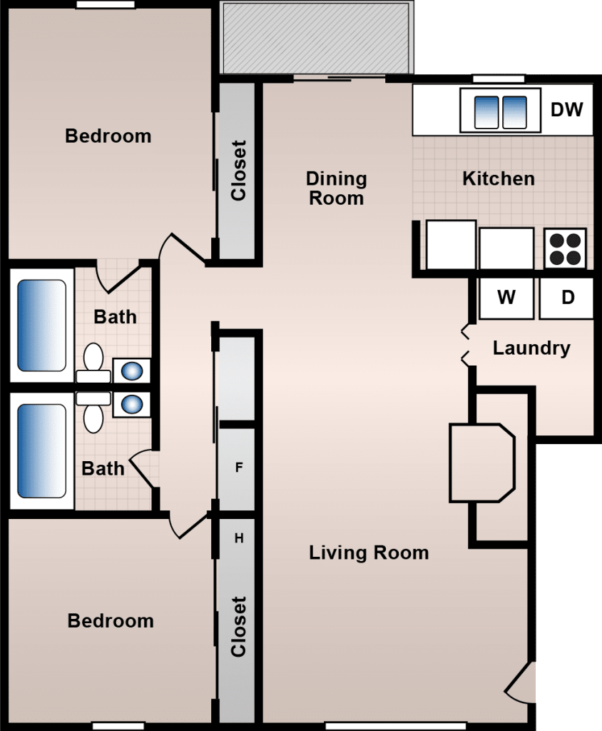 2 Bedroom Apartments For 650 In Philadelphia: 2 And 3 Bedrooms, Spacious Living