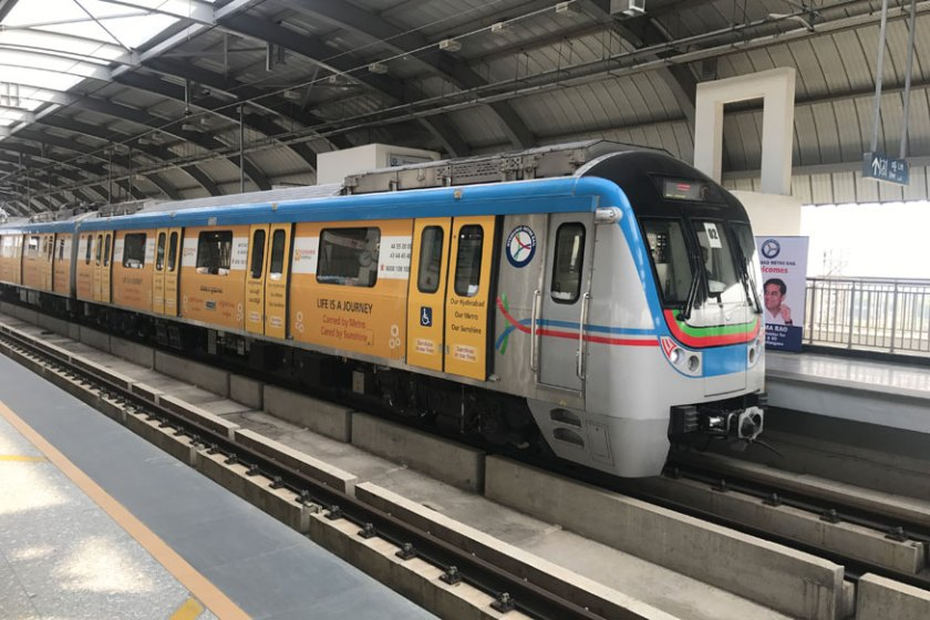 hyderabad-metro-rail-station, metro rail, 1 st phase Hyderabad metro rail, Miyapur to Nagole metro rail,