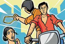 Chain Snatchers Rob Woman Of Gold Chain In Hyderabad