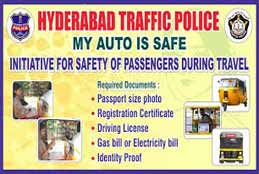 """Cyberabad Police To Initiate """"My Auto Is Safe"""" Program Aug 9"""
