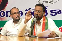 Congress Slams TRS Govt For Bad Roads, Water Logging