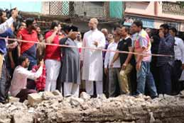 Asaduddin Owaisi Inspected Nala Widening Works In Old City