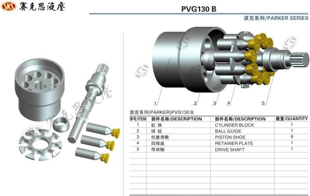 Запчасти к гидравлическим насосам OilGear серии PVG130B