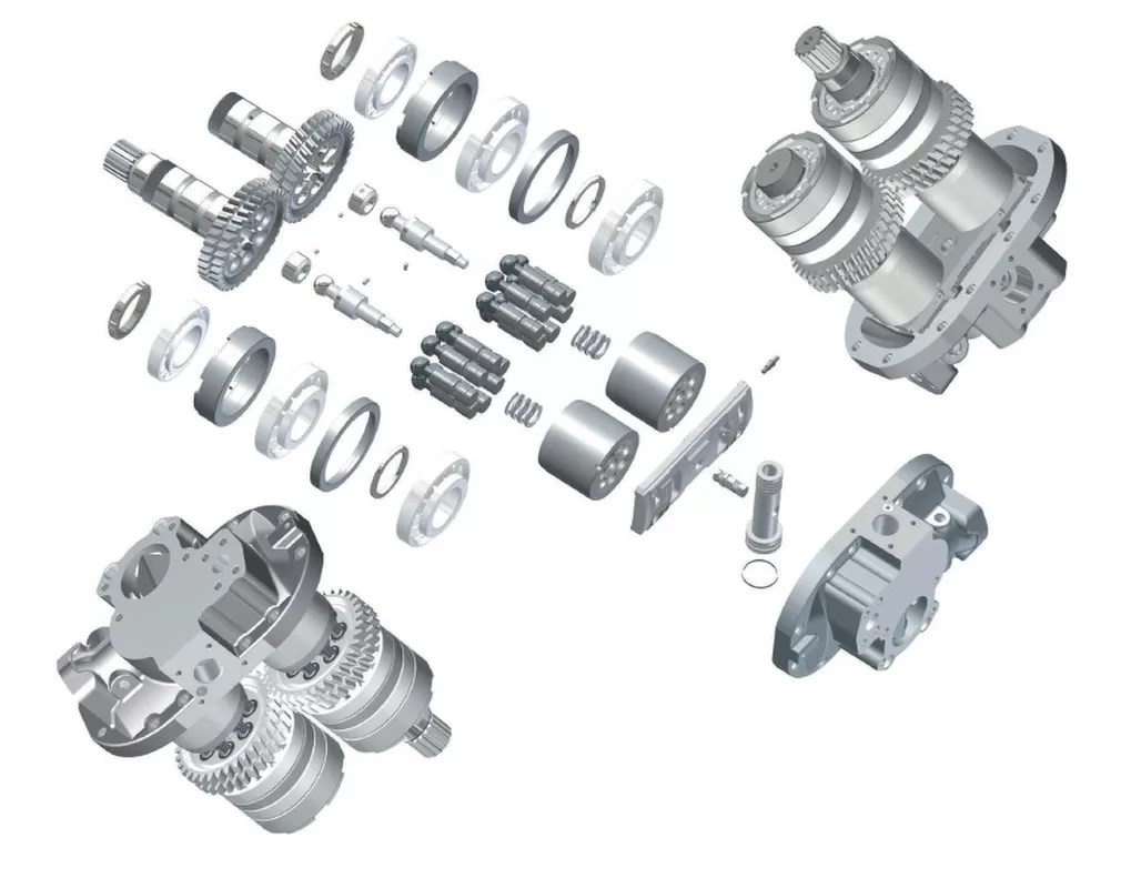 Ex220 3 Excavator Hitachi Hydraulic Pump Parts Hpv091