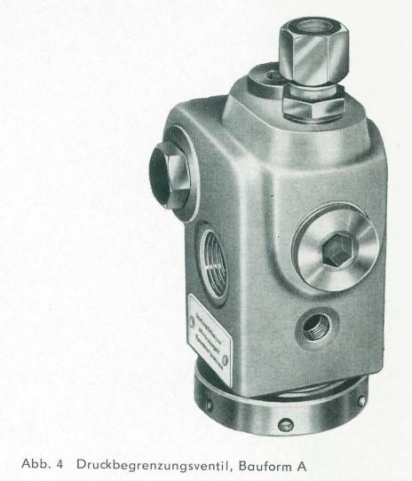 Bauform A der Druckbegrenzungsventile der TGL 10871