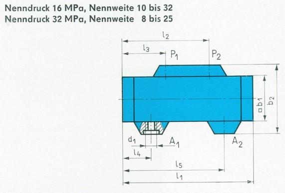 TGL 10973 - Abmessungen für Ausführung mit Einschraubstutzen