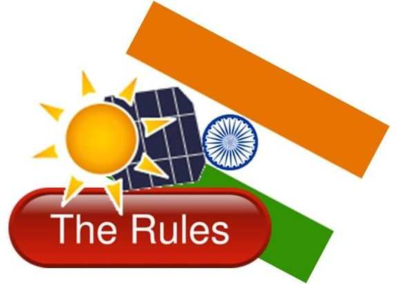 Solar Energy Rules - India