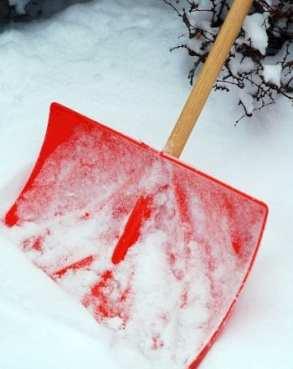 Green Building - Shovel in Snow