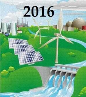Solar energy and wind energy in 2016