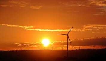 Wind Energy - Wind Farm at Sunrise