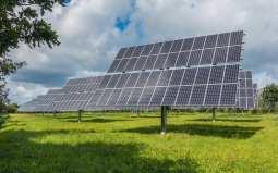 Community solar power - Solar Panels in Field