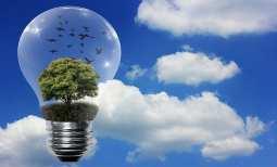 clean hydrogen storage - lightbulb with green energy