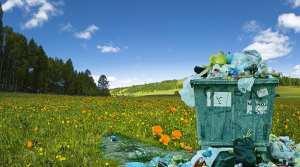 waste plastic-to-hydrogen - dumpster in field