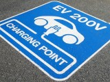 California EV Charging - Electric Vehicle Charging sign on road