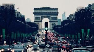 Paris car ban - Paris road - arc de triomphe
