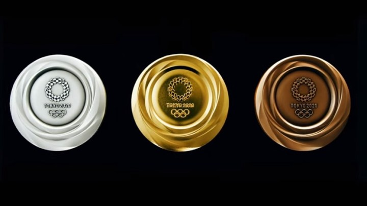 Tokyo 2020 Olympic medals made from recyclable electronic devices unveiled for first time