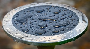 clean drinking water - wet solar panel