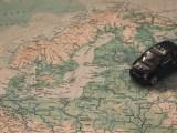 European hydrogen network - car on top of map