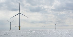 renewable hydrogen production - offshore wind turbines in the North Sea