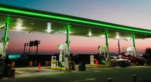 hydrogen fuel station - gas station