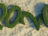 Green New Year's Resolutions - 2020 nature sign on sand