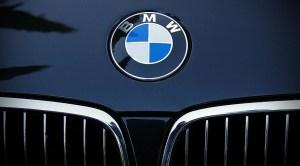 BMW FCEVs - BMW logo on car
