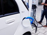 Fast charging EV stations - electric car charging at station