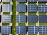 US Solar installations - rows of solar panels