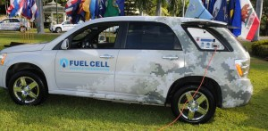 hydrogen fuel cell car - fuel cell vehicle