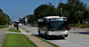 Fuel cell electric buses - metro bus on road