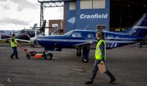 Zero emission airplanes - ZeroAvia Plane leaving hanger