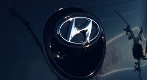 Overseas fuel cell - Hyundai Logo on car