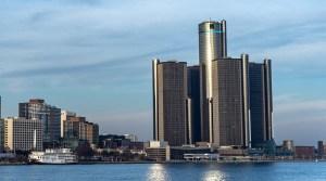 GM hydrogen fuel - Image of GM building in Detroit