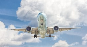 Hydrogen aircraft - plane in flight
