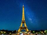 Renewable hydrogen - Eiffel Tower lit up at night