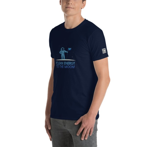 Clean Energy To The Moon Short-Sleeve Unisex T-Shirt 9