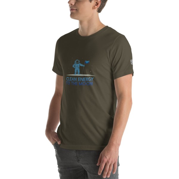 Clean Energy to the Moon Short Sleeve T-Shirt - Multiple Color Options 36